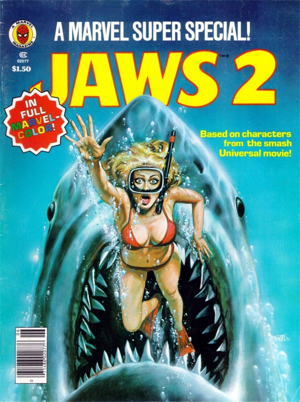 Jaws 2 Marvel Comic Pulp Cover