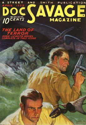 Doc Savage 1933 - Dinosaur Pulp Cover
