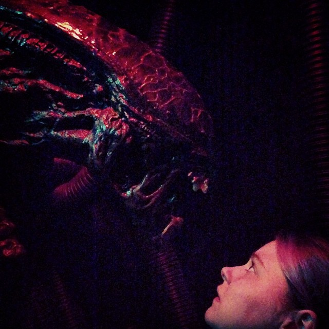 That time Opop met a xenomorph