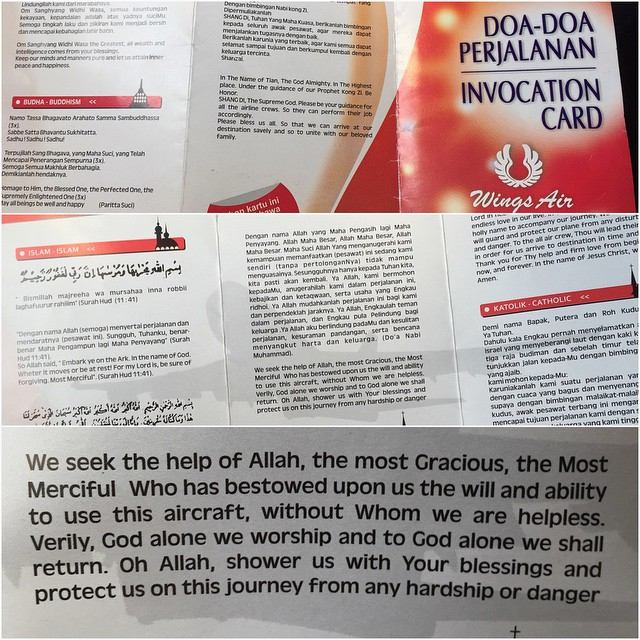 Seat-back card: Is this a bad sign?