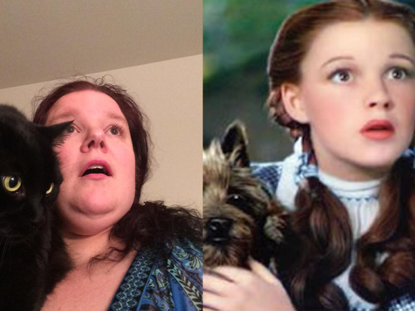 Anneliese as Dorothy and Vader as Toto