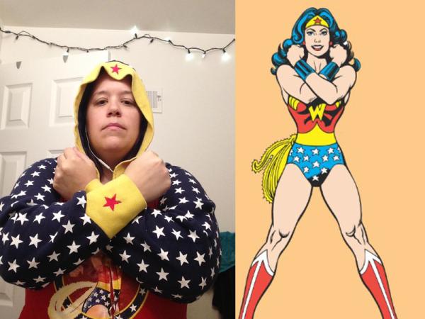 Nutty as Wonder Woman