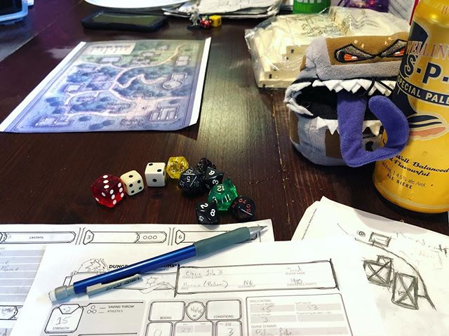 D&D Night: Mostly dragons this evening