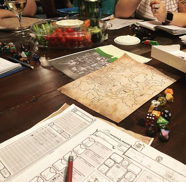D&D Night: Burning Skulls and Party Members