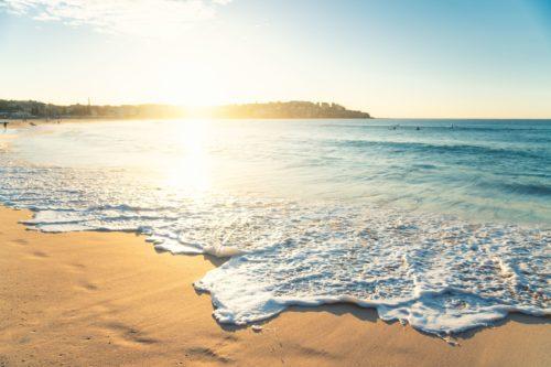 A bright beach