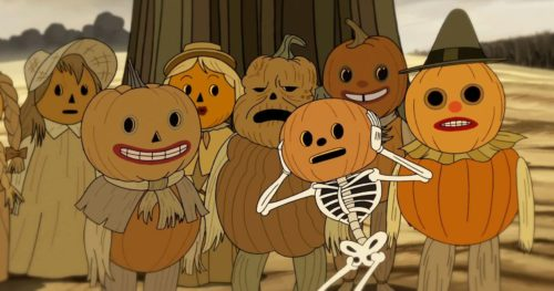 Spoopy Skeletons with Pumpkin Heads